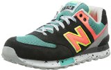 New Balance Women's WL574 Outdoor Pack Running Shoe,Black/Orange,7.5 B US