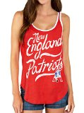 Junk Food NFL New England Patriots Licorice Red Juniors Tank Top (Juniors Small)