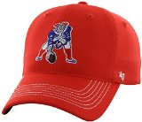 NFL New England Patriots '47 Brand Game Time Closer Stretch Fit Hat (1965 Logo), Torch Red, One Size Stretch