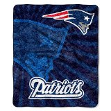 NFL New England Patriots Throw Blanket, 50X60-Inch, Strobe Design