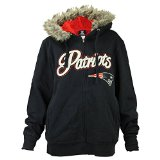NFL New England Patriots Women's Full Zip Sherpa Lined Hoodie (Size: Medium)
