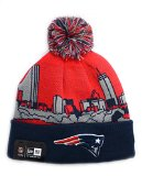 NFL New England Patriots Biggest Fan Sport Knit Beanie with Pom