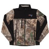 NFL New England Patriots Hunter Colorblocked Softshell Jacket, Real Tree Camouflage, 2X