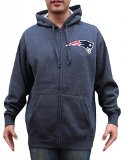 Mens New England Patriots Full-Zip Athletic Warm Hoodie Pullover - Deep Grey (Size: XL)