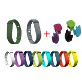 10pcs Replacement Bands With Clasps for Fitbit FLEX Only /No tracker/ Wireless Activity Bracelet Sport Wristband Fit Bit Flex Bracelet Sport Arm Band Armband (Large)
