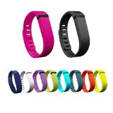 Esonstyle 10pcs/lot Replacement Larger Size Wrist Band Wristband for Fitbit Flex with Metal Clasp 10 Color (Large)