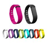 innis 10pcs Large:Black,White,Rose Bloom,Purple (Purple/Pink),Navy (Blue),Slate (Blue/Grey),Lime (Green),Teal (Blue/Green),Orange,Lemon Yellow Replacement Band + Clasps For Fitbit Flex /No Tracker
