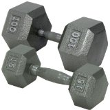 Champion Hex Dumbbell with Ergo Handle, 35-Pound