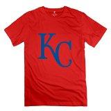 HX-Kingdom Men's Awesome Tshirt - Kansas City Royals Kc Logo Red Size XL