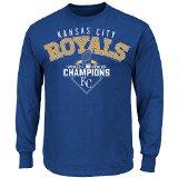 MLB Kansas City Royals Men's World Series Champ The Cycle Long Sleeve Tee, Small, Royal