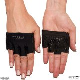 The Gripper Glove | Callus Guard Workout Gloves by Fit Four for Weightlifting & Cross Training Athletes - Enhanced Silicone Grip Palm (Black, Small)