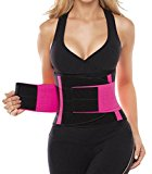 Workout Waist Trimmer Belt for Men and Women - Pro Fitness Trainer Quality - Provides Back Support While Burning Belly Fat - Fully Adjustable - Helps Promote Weight Loss While Slimming Your Abs