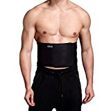 Waist Trimmer Ab Belt For Men Women - 3 Adjustable Closure Waist Trainer - Stomach Wrap Slimming Sauna Weight Loss Belts and lower Back Lumbar Support by Cotill (Large)