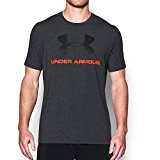 Under Armour Men's Sportstyle Logo T-Shirt, Black/Phoenix Fire, X-Large