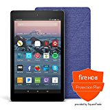All-New Fire HD 8 Protection Bundle with Fire HD 8 Tablet (16 GB, Black), Amazon Cover (Cobalt Purple) and Protection Plan (2-Year)