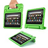 TNP Case for All-New Fire HD 8 Tablet - Kids Shock Proof Soft Light Weight Childproof Impact Drop Resistant Protective Stand Cover with Handle for Fire HD 8