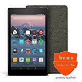 All-New Fire HD 8 Protection Bundle with Fire HD 8 Tablet (16 GB, Black), Amazon Cover (Charcoal Black) and Protection Plan (3-Year)