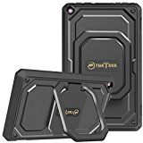 Fintie Shockproof Case for All-New Amazon Fire HD 8 Tablet (7th Gen 2017) - [Tuatara Magic Ring] [360 Rotating] Multi-Functional Grip Stand Protective Carry Cover w/ Built-in Screen Protector, Black