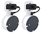 The Spot by Dot Genie: The Original Outlet Wall Mount Hanger Stand for Round Speakers - Designed in USA - No Messy Wires or Screws - Multiple Colors (White 2-Pack)