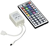 Strip Light Remote Controller, soled IR Infrared Wireless Control with IR Receiver, 44-key IR Infrared Wireless RGB LED Strip Light Remote Controller