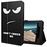 Ztotop Folio Case for Amazon All-New kindle Fire HD 10 Tablet (2017 Release, 7th Generation) - Smart Cover Slim Folding Stand Case with Auto Wake / Sleep,Don't touch me
