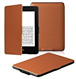 OMOTON Kindle Paperwhite Case Cover - The Thinnest and Lightest PU Leather Smart Cover for All-New Kindle Paperwhite (Fits All versions: 2012, 2013, 2014 and 2015 All-new 300 PPI Versions), Brown