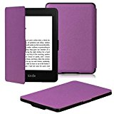 OMOTON Kindle Paperwhite Case Cover - The Thinnest and Lightest PU Leather Smart Cover for All-New Kindle Paperwhite (Fits All versions: 2012, 2013, 2014 and 2015 All-new 300 PPI Versions), Purple