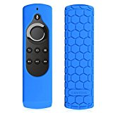 Fintie Silicone Case for All-New Fire TV 4K / 2nd Gen Fire TV Stick Voice Remote, Compatible with Amazon Echo / Echo Dot Alexa Voice Remote - Honey Comb Series [Anti Slip] Shock Proof Cover, Blue