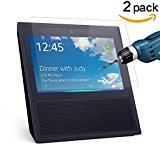CAVN 2 Pcs Amazon Echo Show Screen Protector HD Clear 9H Hardness Tempered Glass Screen Protector for Amazon Echo Show 2017 With Scratch-resistant,Bubble-free,Easy Installation