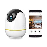 Wireless IP Camera, Compatible with Alexa Echo Show,Netvue 1080P Home Security wifi Camera with Motion Detection P/T/Z,TF Card Record,2 Way Audio and Night Vision, Baby Monitor