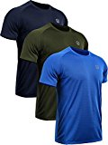 Neleus Men's 3 Pack Mesh Athletic Running Sport Shirts,5033,Navy Blue,Blue,Olive Green,US XL,EU 2XL