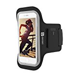 Gear Beast Sports Armband Case For Apple iPhone X, 6, 6s, 5, SE Samsung Galaxy S7, S6. Cell Phone Holder For Running Jogging Workout Fitness And Exercise. Waterproof Reflective Band With Card Pocket