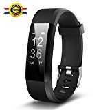 【2018 NEW】Fitness Watch,Fitness Tracker,Luluking YG3 Plus Activity Tracker With Heart Rate Monitor,Step Counter,GPS Tracker,Waterproof Smart Wristband for Android and Ios (black)