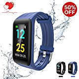 Fitness Tracker, Waterproof Fitness Watch Smart Band, Plus Fitness Technology Activity Tracker with Heart Rate Monitor, Step Tracker, Sleep Monitor, Smart Watch for iOS & Android