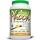 PlantFusion Phood Meal Replacement Protein Powder Vanilla, No Soy or Rice, 20 servings, 18g Protein, 31.8oz Tub