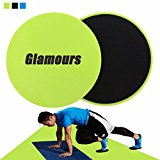 Core Gliding Discs Abdominal Exercise Sliders Equipment for Strength and Stability Training on Carpet and Hardwood Floors Green by Glamours