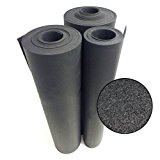 Rubber Cal Recycled Floor Mat, Black, 3/8-Inch x 4 x 3-Feet