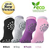 DubeeBaby Yoga Socks, Women's Non Slip Anti-Skid Pilate Grip Socks(SUN SERIES) (4Colors)