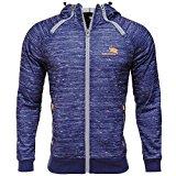 Men's Hoodies Jacket Workout Active Zip Up Slim Fit Longsleeve Hoody Sweatshirts, Blue, XX-Large