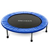 Ancheer Max Load 220lbs Rebounder Trampoline with Safety Pad for Indoor Garden Workout Cardio Training (2 Sizes: 38 inch / 40 inch, Two Modes: Folding / Not Folding)