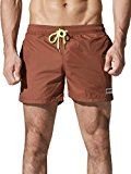 Neleus Men's Swim Trunks Athletic Running Short with Pockets,802,Light Coffee,M,Tag XL