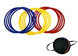 Trademark Innovations Speed & Agility Training Rings - Set of 12 - 16
