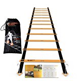 Agility Ladder - 12 Adjustable Rungs 19 Feet - Agility & Speed Training Kit - Quickness Training Equipment For Faster Footwork And Better Movement Skills by Scandinavian Sports