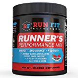 Runner's Performance Mix - Energy & Endurance Drink Mix - Before or During Run - B Vitamins, BCAAs, Caffeine & More