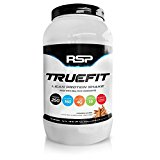 RSP TrueFit - Lean Meal Replacement Protein Shake with Fiber & Probiotics from Essential Real Whole Foods, Cinnamon Churro, 2 Pound Protein Powder for Men & Women