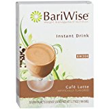BariWise High Protein Drink Mix / Instant Low-Carb Hot Drink - Cafe Latte (7 Servings/Box) - Low Calorie, Low Carb, Fat Free, Gluten Free