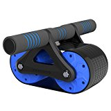 Moombike AB Roller Wheel for Core & Abdominal Trainers Double AB Wheel Workout Equipment with Automatic rebound Resistance and Assistance Springs with Ergonomic Handles Sold with Knee Pad
