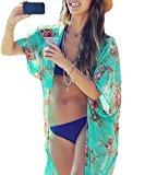 Yonala Summer Womens Beach Wear Cover up Swimwear Beachwear Bikini,One Size,Green