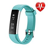 Letsfit Fitness Tracker HR, Sports Fitness Watch with Heart Rate Monitor and Sleep Monitor, Pedometer Watch, Step Counter, Bluetooth Smart Band for Kids Women and Men, green