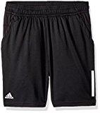 adidas Youth Boys Tennis 3-Stripes Club Shorts, Black, Medium